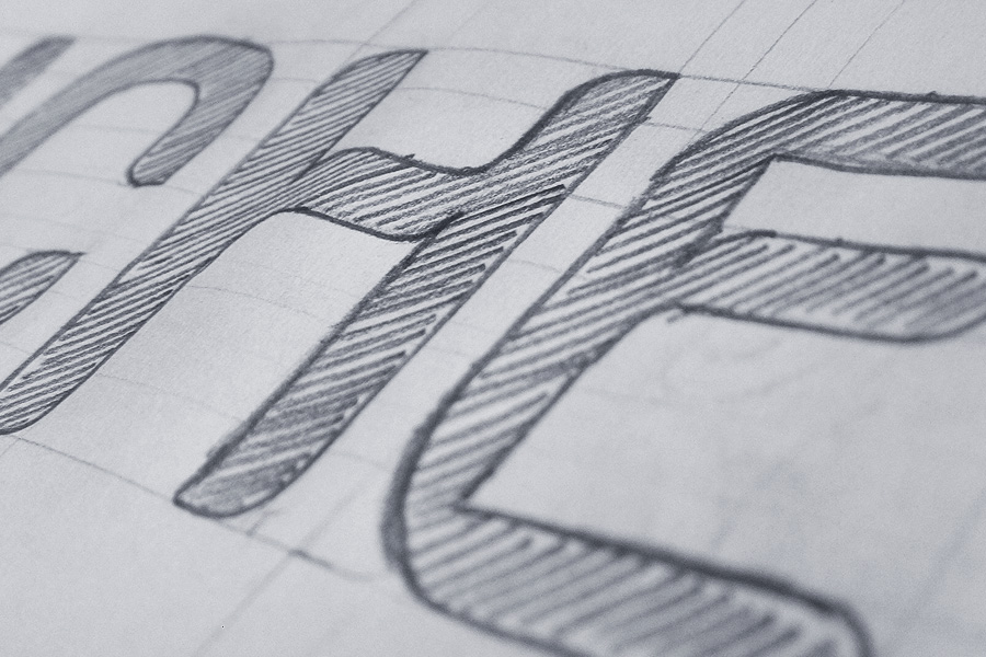 Sketch of letters