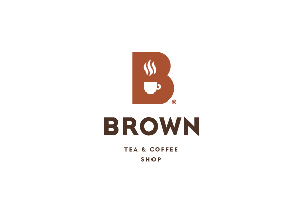 Logo for Brown tea and coffee shop