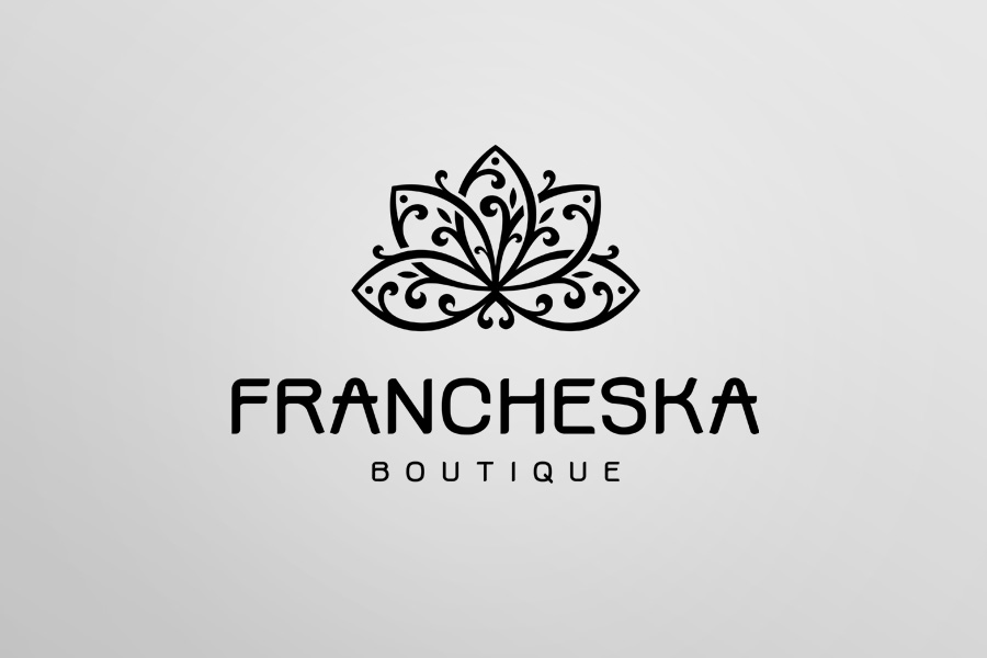 Logo on white. Francheska boutique