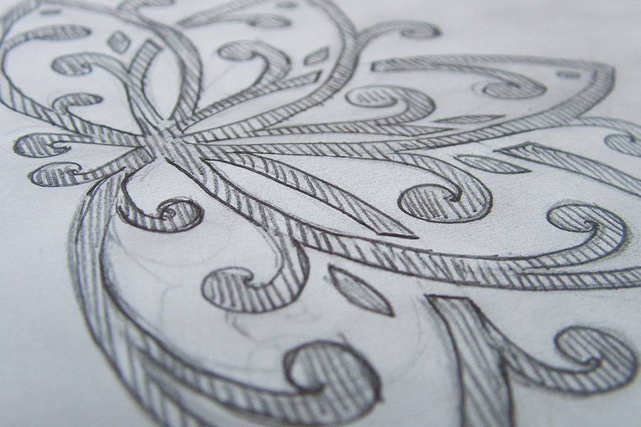 Sketch of ornament