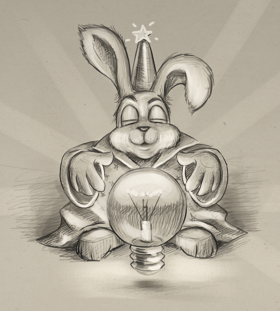 Magic rabbit scetch